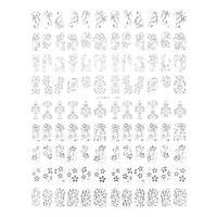 Наклейки для дизайну нігтів на силіконовій основі срібло