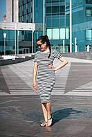 Платье в полоску летнее черное с белым Lullababe, фото 1
