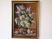 Гобелен в раме Натюрморт с цветами 60*40 см