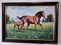 Гобелен в раме Лошадь и жеребенок 60*40 см