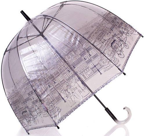 Стильный женский механический зонт ZEST( ЗЕСТ) Z51570-12 прозрачный