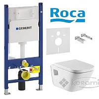 Roca инсталляционная система Roca Gap подвесной унитаз с сиденьем soft-close+клавиша Delta 21(A34H478000+458.126.+115.125.21)