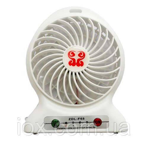 Портативный настольный вентилятор с аккумуляторной батареей ZDL-F68