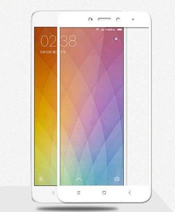 Full Cover защитное стекло для Xiaomi Redmi Note 4 - White