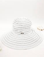 Пляжная шляпа с широкими полями Del Mare белая