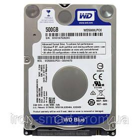 Жесткий диск 2.5' 500Gb Western Digital Blue, SATA3, 16Mb, 5400 rpm (WD5000LPCX) Б/Н