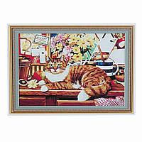 "Картина ""Кошка"" по номерам 50*65см, в кор. 66*51см (20шт)"
