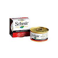 Консервы 85 г тунец с креветками в желе для кошек банка Шезир / Tuna Prawns Schesir