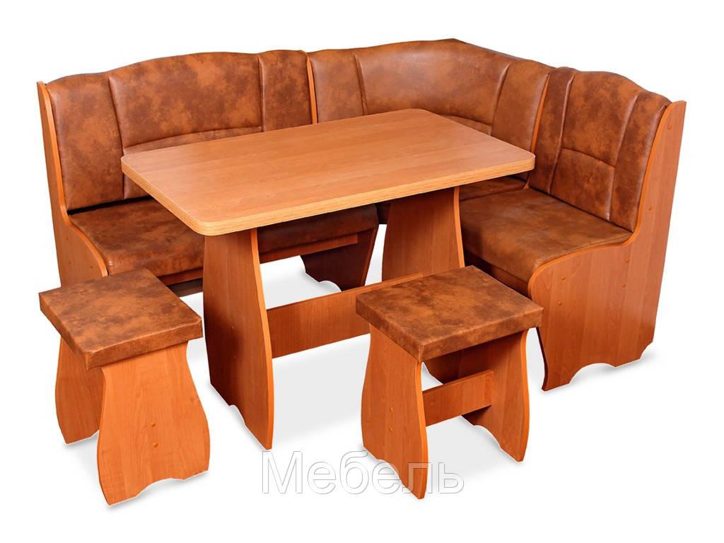 Кухонный уголок комплект Легион Mobili&Vetro угол+стол+2 табуретки
