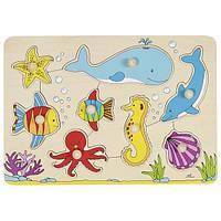 Деревянный пазл головоломка goki Подводный мир 57953