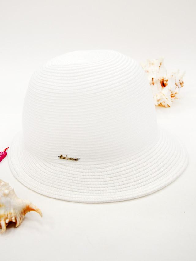 Женская пляжная шляпка Del Mare белая с короткими полями. Шоу-рум, доставка по Киеву и Украине, 0987555561