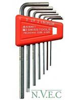Профессиональный набор ключей -шестигранников SWISS TOOLS (Швейцария) (размер 0,89мм,1,27мм, 1,5мм, 2мм, 2.5мм, 3мм) 00062-6047