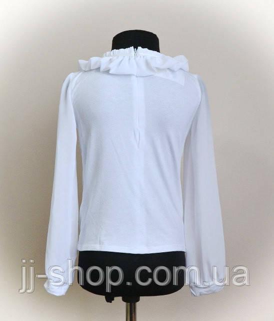 Блузка детская белого цвета для девочек