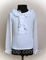 Блуза детская,для девочек, белого цвета, фото 1