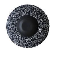"""Тарелка для пасты черная матовая с узором 12"""" (30,5 см) FC0033-12"""
