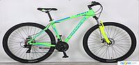 Горный подростковый велосипед 29 дюйма (19 рама) Azimut  CROSSER FLASH (2017 года) салатовый***