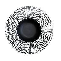 """Тарелка для пасты черная матовая с узором 12"""" (30,5 см) FC0020-12"""