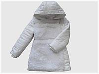 """Детская куртка """"Снежинка"""" белая для девочки VITALIYA"""