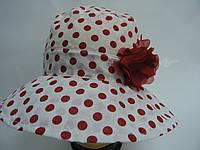 Детская шляпа -  красный горошек