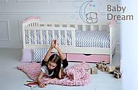 Детская кровать с бортиками для девочки Конфетти