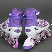 Ролики 2002 раздвижные (34-37размер) фиолетовые