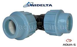 Угольник зажимной Unidelta DN 40x90° для ПЭ-труб (Италия)