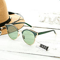 Женские стильные очки капли Hend Made зеленые