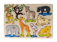 Пазл деревянный goki Африканские животные 57829
