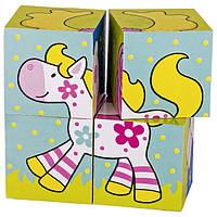 Кубики деревянные goki Мои друзья susibelle 57511