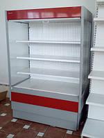 Хорошая, привлекательная, холодильная горка нового поколения, привлечет покупателя своей простотой и в тоже время не отвлечет внимания от предлагаемого и нужного ему товара.