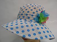 Детская шляпа -  голубой горошек, фото 1