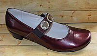 Кожаные туфли  для девочек размер 34