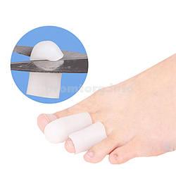 Силиконовый напальник от мозолей для пальцев ног, цвет белый