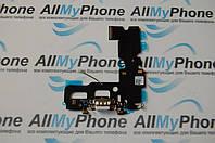 Шлейф для мобильного телефона Apple iPhone 7 коннектора зарядки / коннектора наушников с компонентами белый