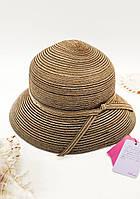 Пляжная женская шляпа Del Mare Кофе с молоком