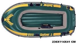 "Лодка ""Seahawk"" на 2 чел.до 200кг, крепления для весел, в кор. 41*39*20;236*114*41см, INTEX (3 шт.)"
