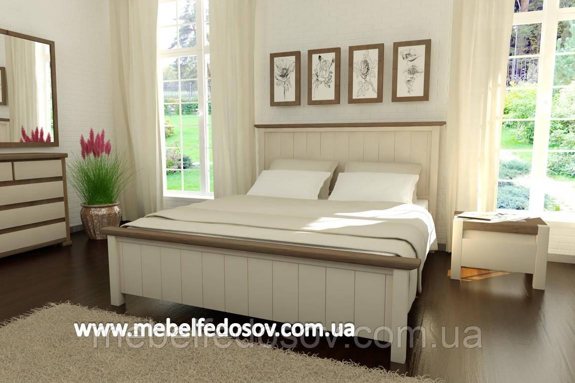 Кровать Калифорния полуторная 140 (Мебигранд/Mebigrand) 1590х2040(2140)х1145мм