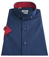 Мужская рубашка классическая с коротким рукавом № 10-29 -1007-6 RC, фото 1