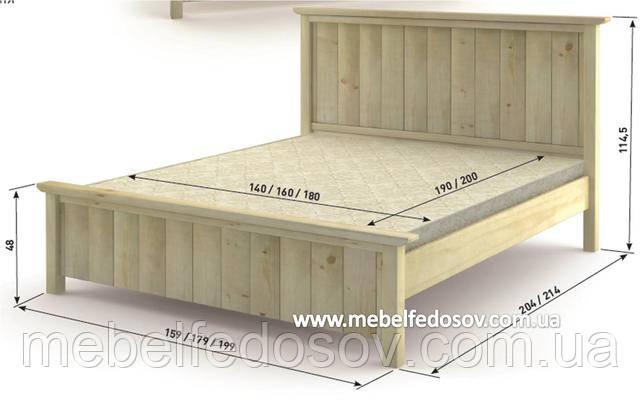 Кровать деревянная калифорния мебигранд