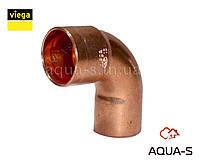 Уголок медный для пайки медного трубопровода однораструбный 90° DN 15 VIEGA