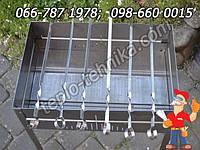 Мангал из нержавейки переносной усиленный с ребрами жесткости Forester, купить разборный туристический мангал, фото 1