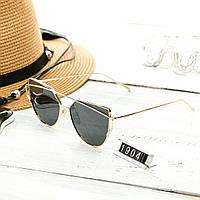 Женские очень стильные и модные очки Hend Made в стиле реплики Диор в золотой оправе, фото 1