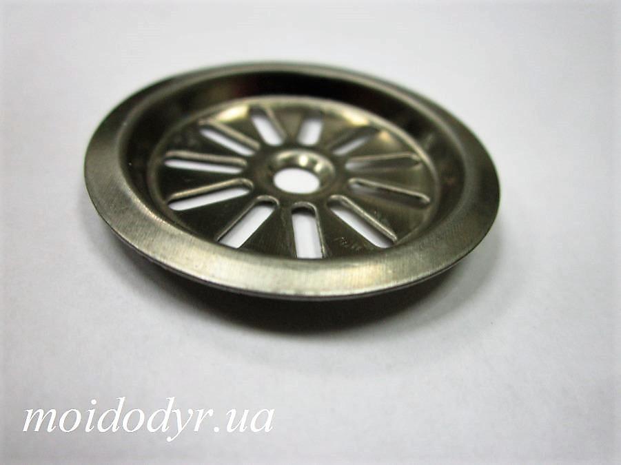 Накладка на перелив для кухонной мойки (36 мм) INOX