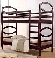 Двухъярусная кровать Виктория, 2-х ярусная кровать каштан
