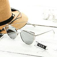 Женские очень стильные и модные очки Hend Made в стиле реплика Диор серые, фото 1
