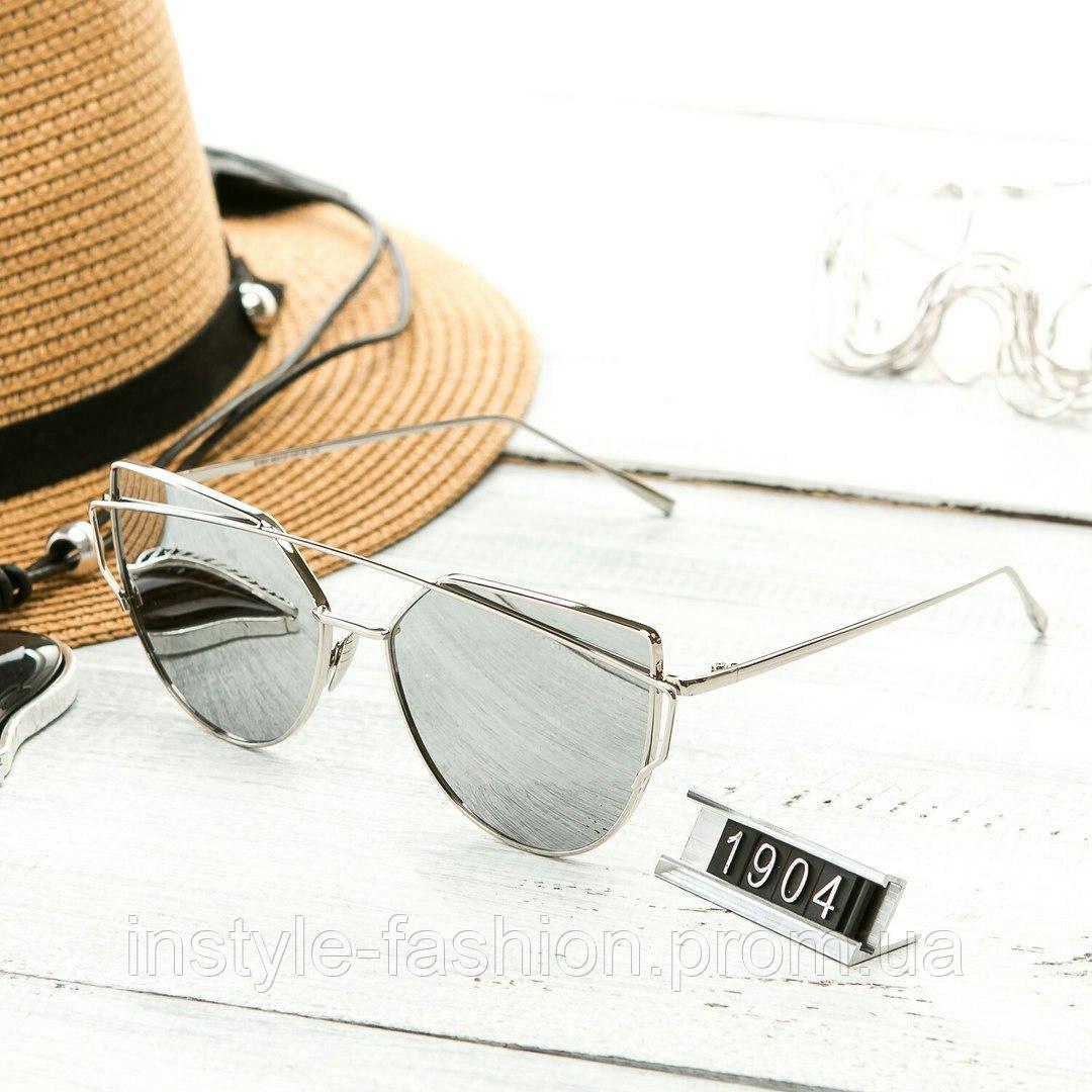 Женские очень стильные и модные очки Hend Made в стиле реплика Диор серые