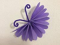 Бабочки из бумаги тишью 15 см. разные цвета