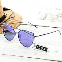 Женские очень стильные и модные очки Hend Made в стиле Диор сиреневые