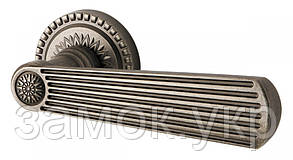 Ручка дверная на розетке Armadillo Romeo античное серебро (Китай)