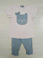 Woorage Пижама для девочки р4-14 пудра/серый